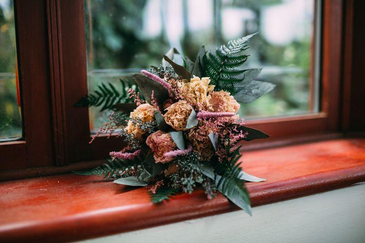 Folky Dokey Dried Flower Wedding Bouquet