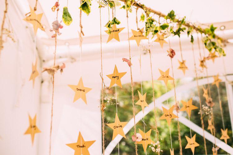 Hanging Stars Table Plan
