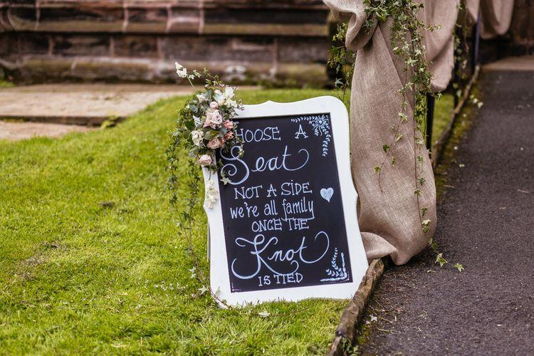 Welcome Sign Chalkboard