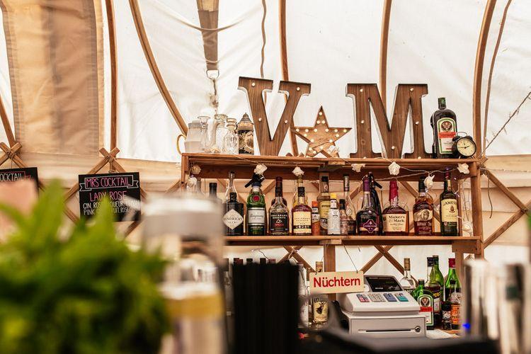 Bar Rustic Yurt Wedding