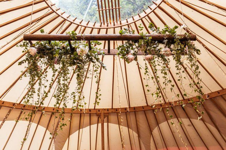 Floral Display Yurt Wedding