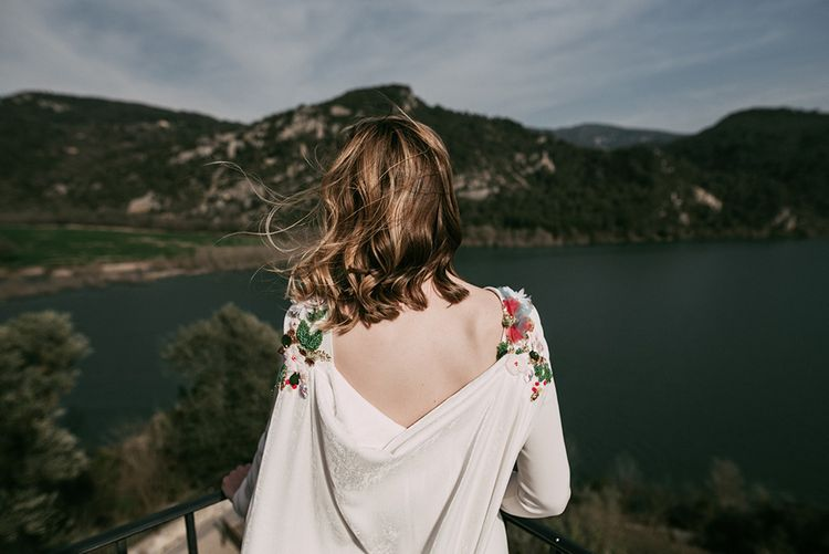 Embroidered Wedding Dress By Beba's Closet For An Elegant Lakeside Wedding With Images From Sara Lobla