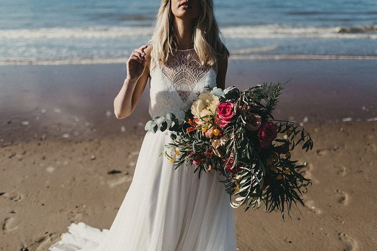 Beach Bridal Look Book Shoot At Camber Sands For White Mischief Bridal With Jenny Packham, Augusta Jones & Jesus Peiro | Images By Jason Williams Photography