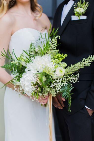 White & Green Wedding Bouquet