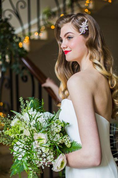 Bride with Bold Lipstick