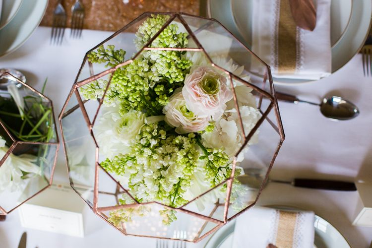Wedding Table Scape with Copper Accents