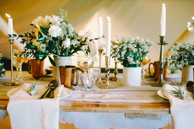 Wild Tipi Rustic Table Scape with Props from Box and Cox Vintage Hire | Images by Olivia Bossert Photography |