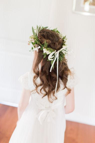 Flower Girl with Flower Crown | Bowtie and Belle Photography