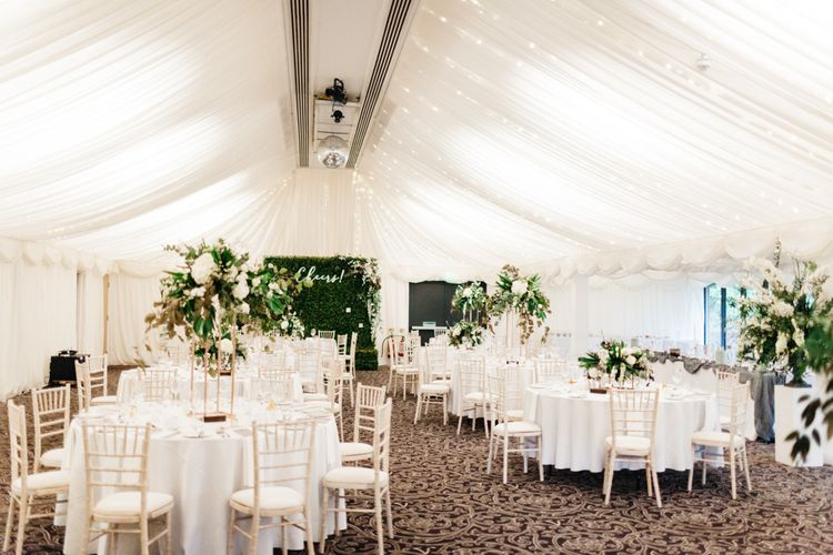 Greenery & White Marquee Wedding at The Villa, Levens with Copper Details | Bowtie and Belle Photography