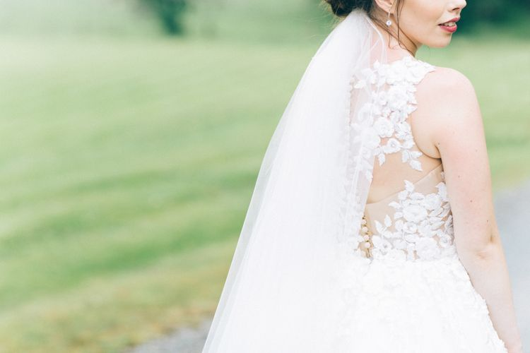 Pronovias Taciana Bridal Gown | Groom in Tweed Suit | Greenery & White Marquee Wedding at The Villa, Levens with Copper Details | Bowtie and Belle Photography