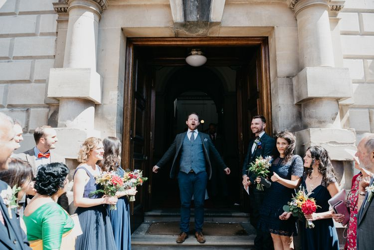 Groom in Reiss Suit | Guildhall in Bath | Andrew Brannan Photography