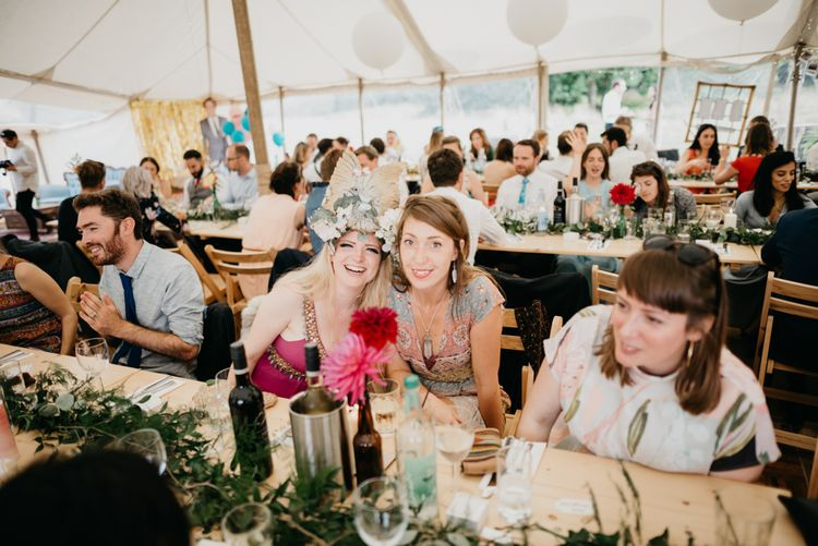 Marquee Wedding | Trestle Tables | Andrew Brannan Photography