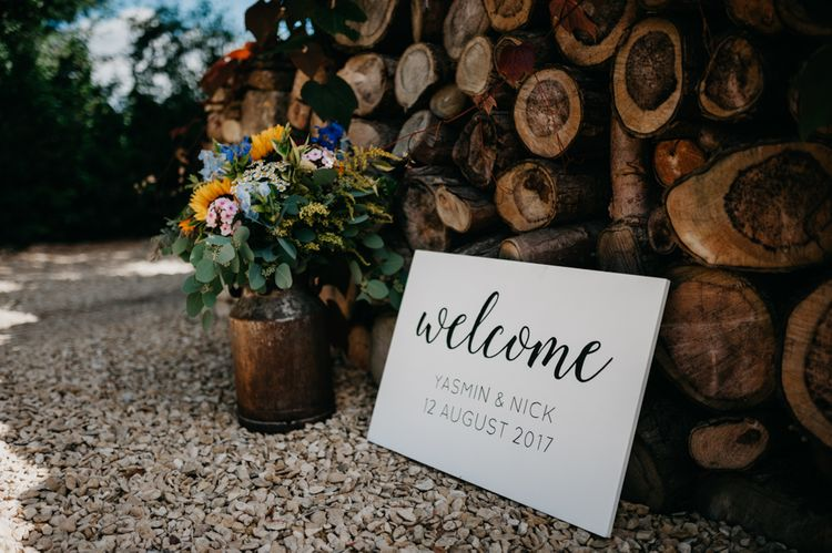 Wedding Welcome Sign | Andrew Brannan Photography