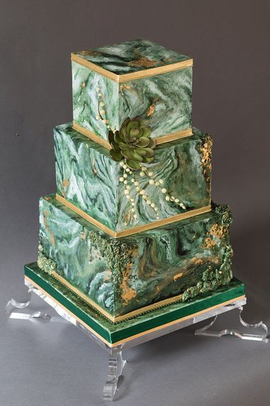 Iced Wedding Cake By The Frostery