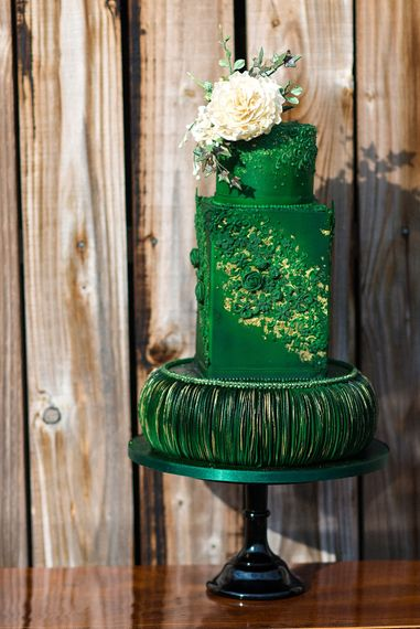 Green Wedding Cake By The Frostery