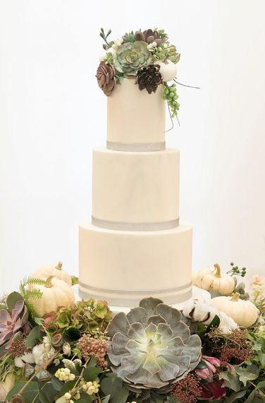 Succulent Wedding Cake By The Frostery