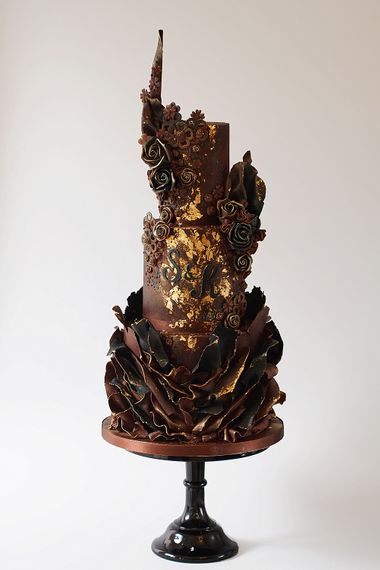 Chocolate Wedding Cake By The Frostery