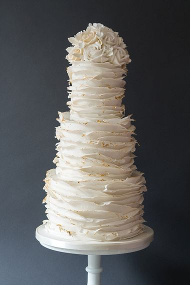 Ruffled Icing Wedding Cake By The Frostery