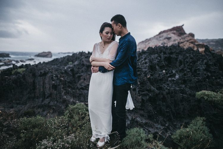 Intimate Elopment in Spain | Bride in Immacle Wedding Dress | Images by Serafin Castillo