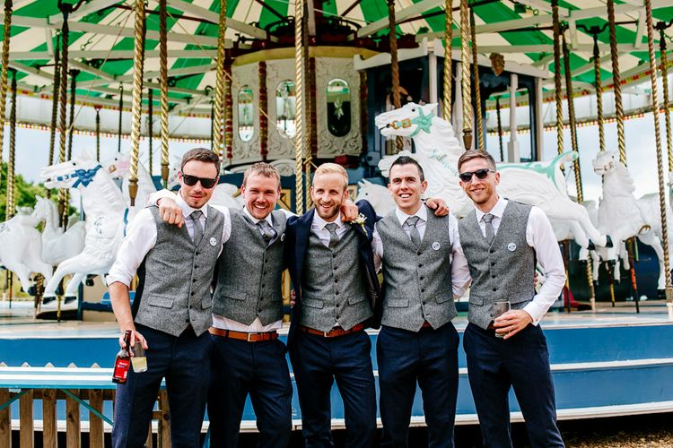 Groom & Groomsmen In Navy & Grey Suits From Next