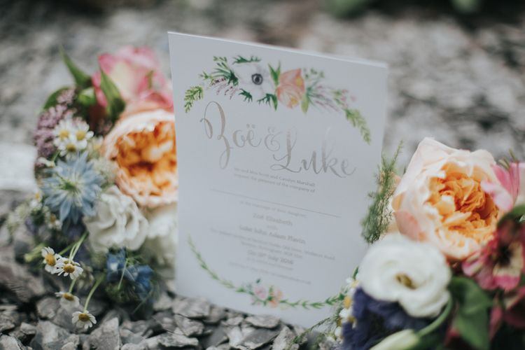 Pretty Stationery Suite With Floral Motif