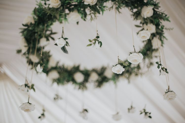 Floral Chandelier For Marquee