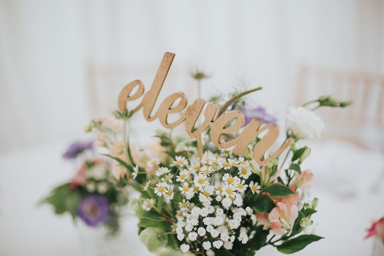 Wooden Laser Cut Table Numbers For Wedding