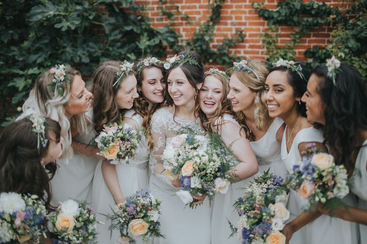 Wedding Party In All White