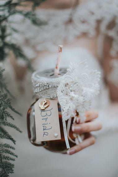 Pimms In Jam Jars Wedding Drinks