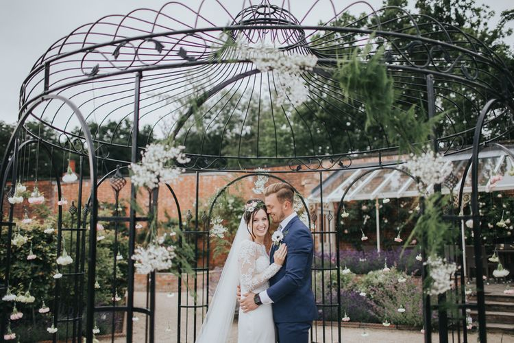 Bride and Groom at The Walled Gardens Nottingham