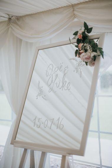 Mirrored Wedding Sign