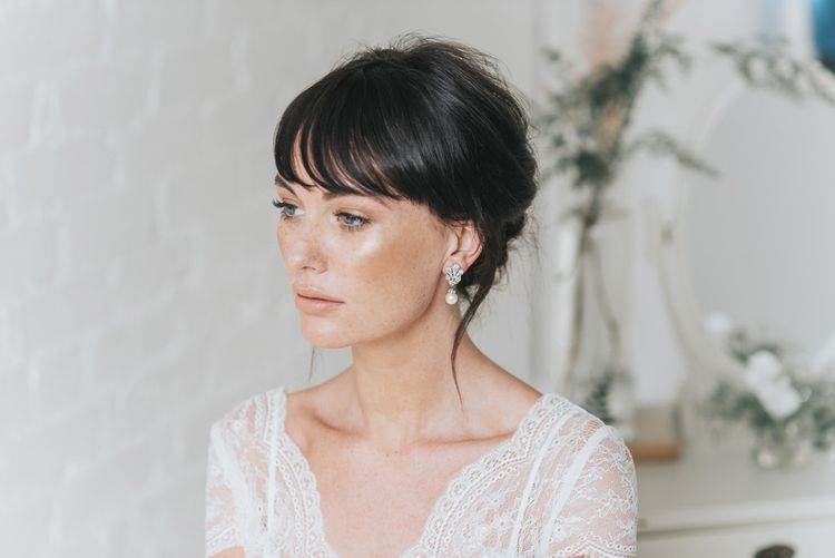Natural Dewy Bridal Makeup Up with Chic Bridal Up Do