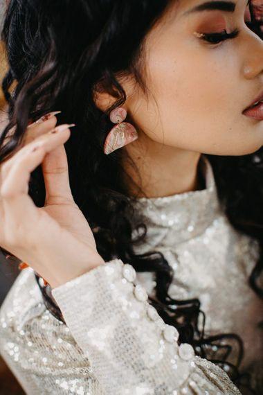 Ornate wedding earrings