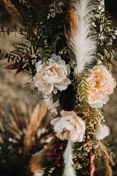 Moon Gate Peach Wedding Flowers   A Wild Bohemian Bride in the Majella National Park, Abruzzo, Italy   Planned & Styled by Antonia Luzi   Federico Lanuto Photography