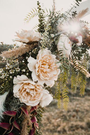 Peach Wedding Flowers   A Wild Bohemian Bride in the Majella National Park, Abruzzo, Italy   Planned & Styled by Antonia Luzi   Federico Lanuto Photography