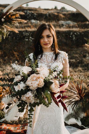 Boho Bride in Napolitano Trotta Maison Embellished Wedding Dress   A Wild Bohemian Bride in the Majella National Park, Abruzzo, Italy   Planned & Styled by Antonia Luzi   Federico Lanuto Photography