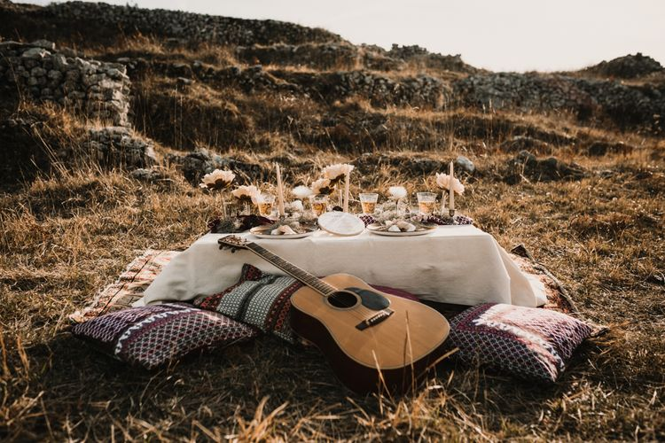 Intimate Rustic Tablescape   A Wild Bohemian Bride in the Majella National Park, Abruzzo, Italy   Planned & Styled by Antonia Luzi   Federico Lanuto Photography