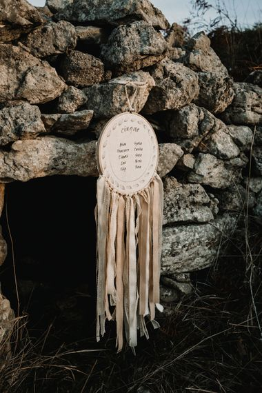 Hanging Line Hoop Wedding Decor Table Plan    A Wild Bohemian Bride in the Majella National Park, Abruzzo, Italy   Planned & Styled by Antonia Luzi   Federico Lanuto Photography