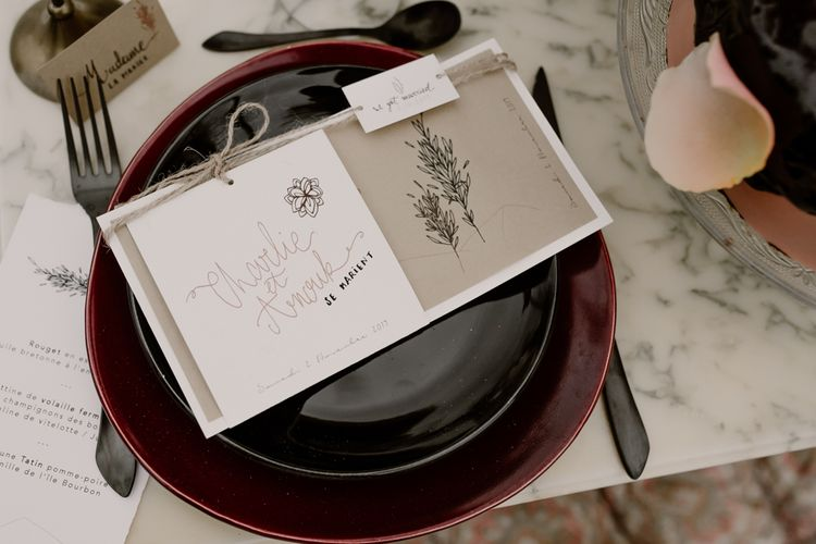 Wedding Stationery | Wild Same Sex Couple Wedding Inspiration Shoot | Anne Letournel Photography