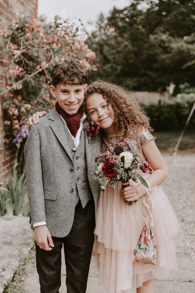 Stylish flower girl and page boy