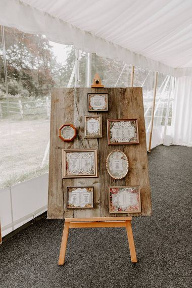 DIY table plan with ornate frames