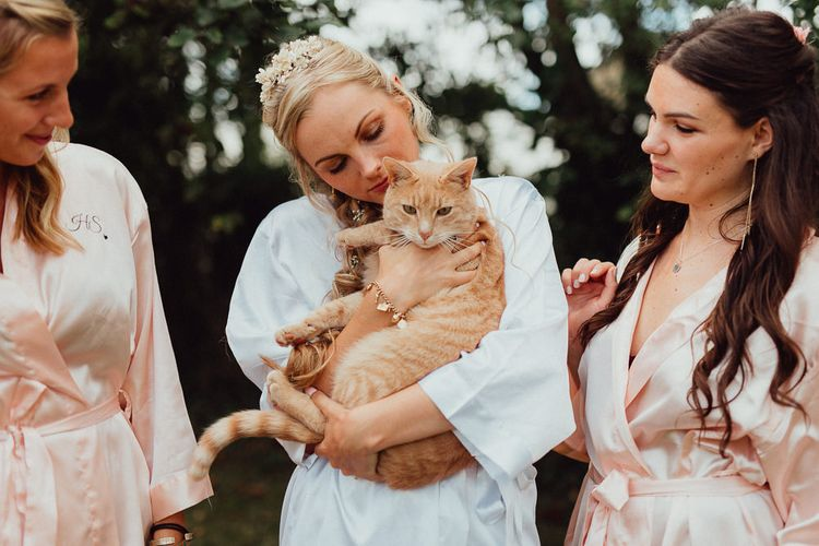 Ginger Cat | Bridal Morning Preparations | Rustic French Destination Wedding with Homegrown Flowers  | Emily & Steve Photography