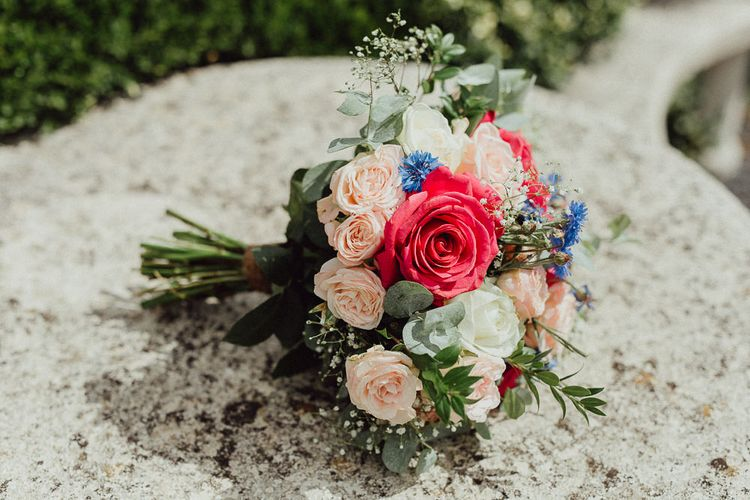 Homemade Bridal Bouquet | Rustic French Destination Wedding with Homegrown Flowers  | Emily & Steve Photography