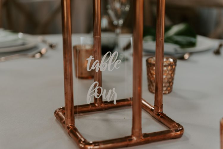 Acrylic Table Number by Not Your Average I Do | Wedding at Chafford-Park