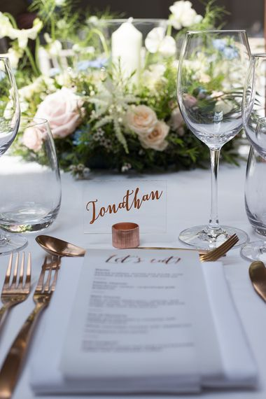 Acrylic Wedding Place Name by Rose Paper Scissors