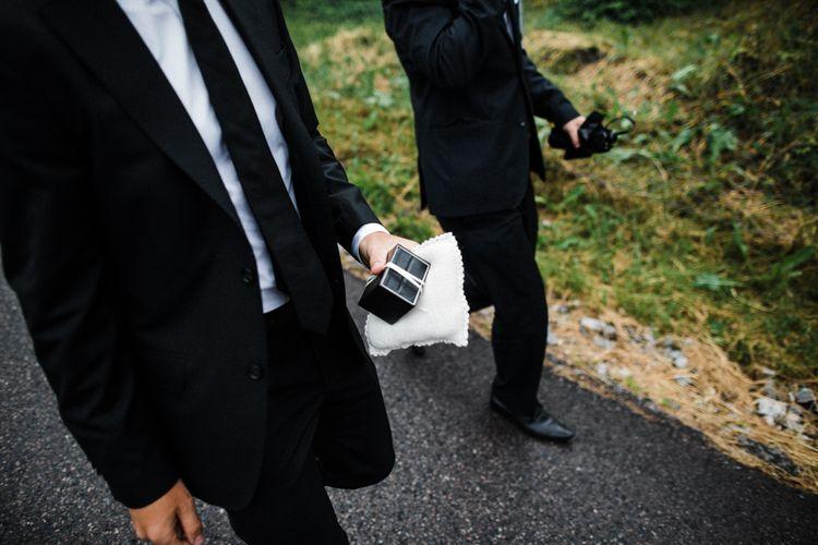 Groom in Black Tie | Woodland Wedding in Oslo, Norway | Through The Woods We Ran