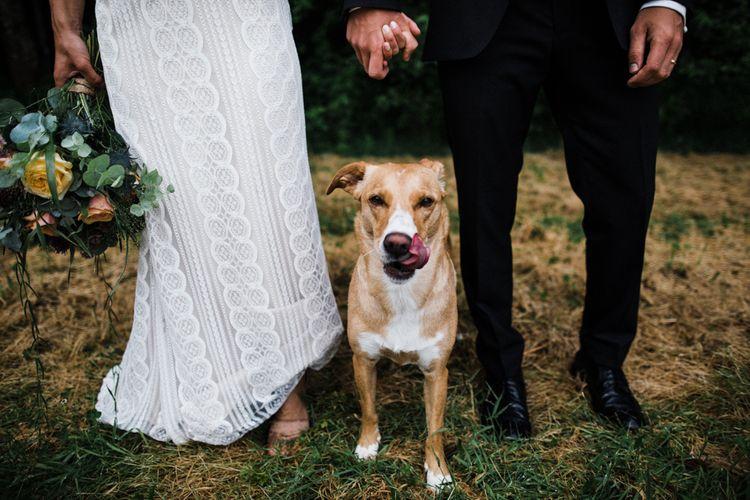 Pet Dog | Woodland Wedding in Oslo, Norway | Through The Woods We Ran