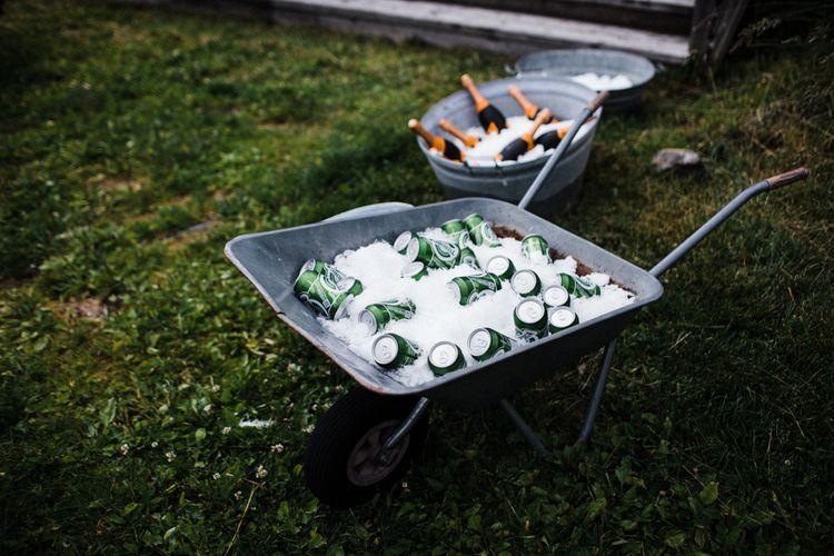 Beer Barrow | Woodland Wedding in Oslo, Norway | Through The Woods We Ran