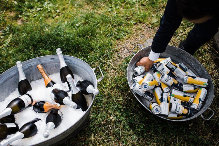 Beer Troughs | Woodland Wedding in Oslo, Norway | Through The Woods We Ran