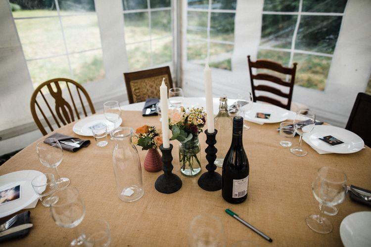 Wedding Table Centrepiece | Woodland Wedding in Oslo, Norway | Through The Woods We Ran